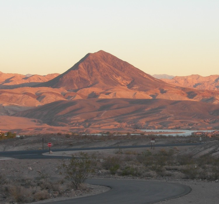 Volcanic cinder cone, Henderson, NV.